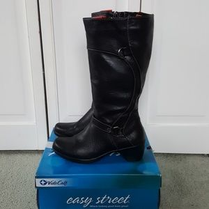 Easy Street Black Wide Calf Boots